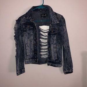 Jackets & Blazers - Distressed jean jacket size M